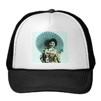 Vintage Geisha and Her Parasol Old Japan Trucker Hat
