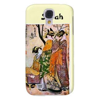 Vintage Geisha Art Customizable Name iPhone 3 Spec Galaxy S4 Cover