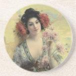 Vintage Geisha Coaster