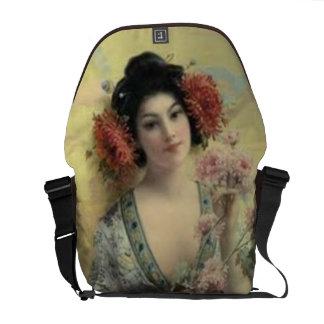 Vintage Geisha Coffee Messenger Bag