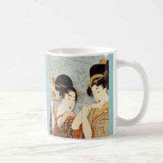 Vintage Geisha Girls Classic White Coffee Mug