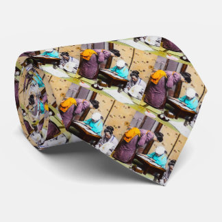 Vintage Geisha in Old Japan Reading Tie