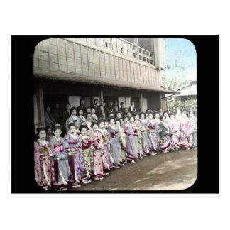 Vintage Geisha Magic Lantern Slide Postcard