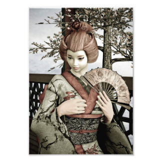 Vintage Geisha Photo Print