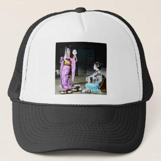 Vintage Geisha Practicing Classic Noh Dancing Trucker Hat