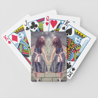 vintage gemini best friends forever Twin girls Bicycle Playing Cards