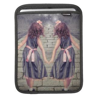 vintage gemini best friends forever Twin girls iPad Sleeve
