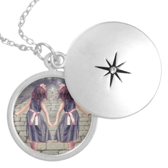 vintage gemini best friends forever Twin girls Silver Plated Necklace