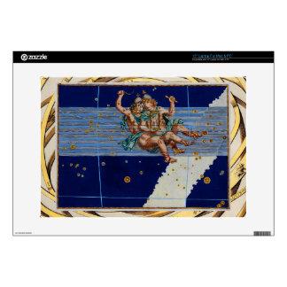 "Vintage Gemini Star Chart 15"" Laptop Decal"