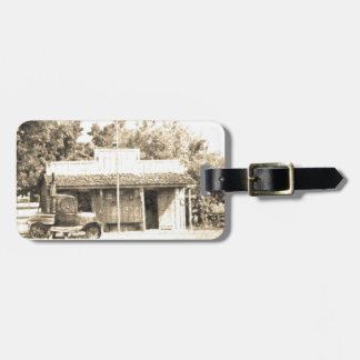 Vintage General Store with Antique Auto Luggage Tag