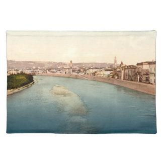 Vintage General View of Verona, Veneto, Italy Cloth Placemat