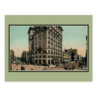 Vintage Genesee and Salina Streets Syracuse NY Postcard