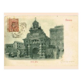 Vintage Genova, Porta Fila, 1907 Postcard