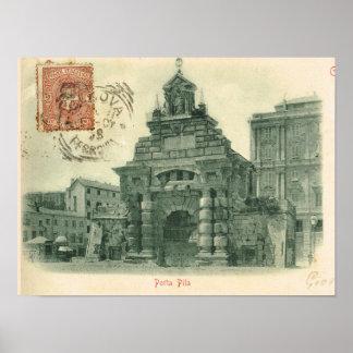 Vintage Genova, Porta Pila Poster