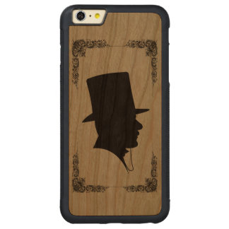 Vintage Gentleman Silhouette Carved Cherry iPhone 6 Plus Bumper Case