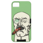 Vintage Gentleman with Cigar and Monocle iPhone 5 Case