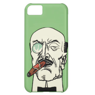 Vintage Gentleman with Cigar and Monocle iPhone 5C Case