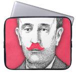 Vintage  Gentleman With Funny Pink Mustache Laptop Sleeves