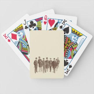 Vintage Gentlemen 1800s Men's Fashion Brown Beige Bicycle Playing Cards