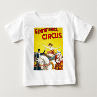 Vintage Gentry Brothers Circus Poster Baby T-Shirt