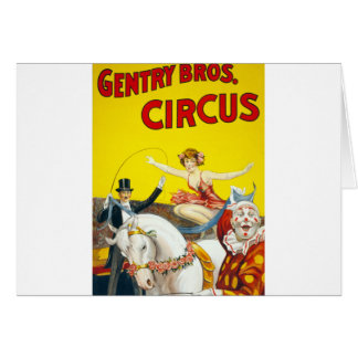 Vintage Gentry Brothers Circus Poster Card