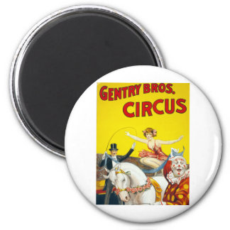 Vintage Gentry Brothers Circus Poster Magnet