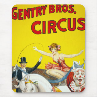 Vintage Gentry Brothers Circus Poster Mouse Pad
