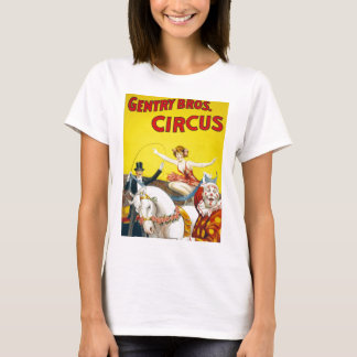 Vintage Gentry Brothers Circus Poster T-Shirt