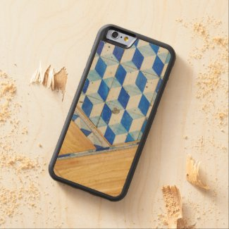 Vintage geometric 3d pattern with wood carved® maple iPhone 6 bumper