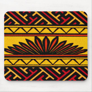 Vintage Geometric African Tribal Chinese Design Mouse Pad