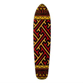 Vintage Geometric African Tribal Chinese Design Skateboard