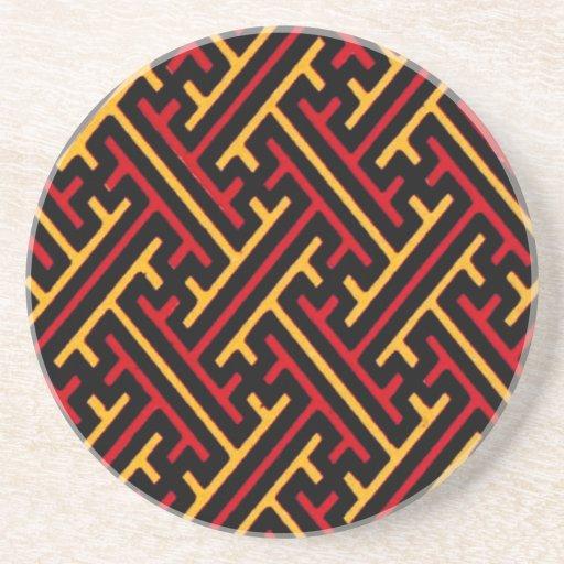 Vintage Geometric African Tribal Graphic Design Drink