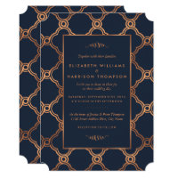Vintage Geometric Art Deco Gatsby Wedding Invitation