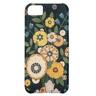 Vintage Geometric Circle Flower Abstract Botanical iPhone 5C Case