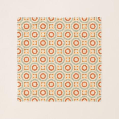 Vintage Geometric Circle Pattern Scarf