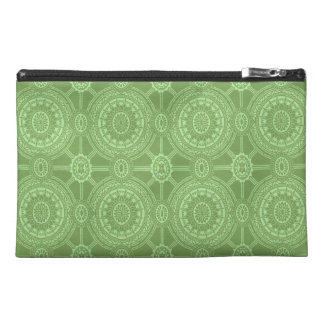 Vintage Geometric Circles in Bright Green Travel Accessories Bag