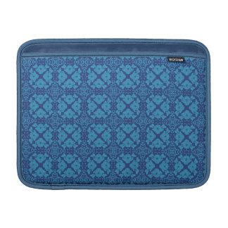 Vintage Geometric Floral Blue on Blue MacBook Air Sleeve