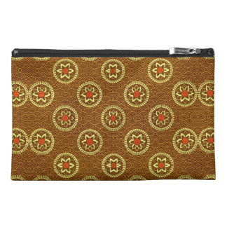 Vintage Geometric Floral in Gold Travel Accessory Bags