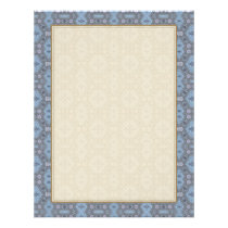 Vintage Geometric Floral in Gray and Light Blue Flyer