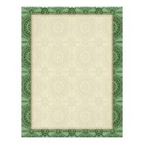 Vintage Geometric Floral Pattern Sage Green Flyer