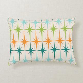 Vintage Geometric Starbursts Accent Pillow