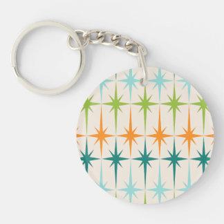 Vintage Geometric Starbursts Acrylic Keychain