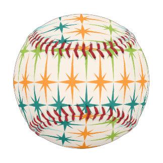 Vintage Geometric Starbursts Baseball