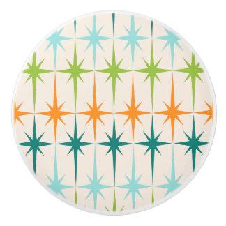 Vintage Geometric Starbursts Ceramic Knob