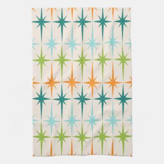 Vintage Geometric Starbursts Kitchen Towel