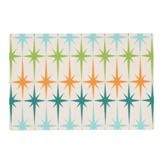 Vintage Geometric Starbursts Laminated Placemat