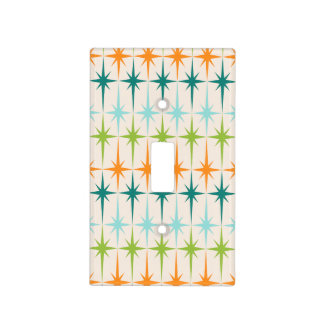 Vintage Geometric Starbursts Light Switch Cover