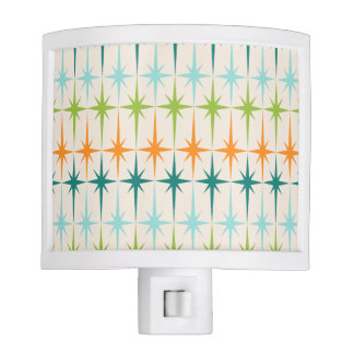 Vintage Geometric Starbursts Night Light