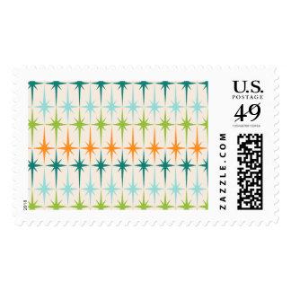 Vintage Geometric Starbursts Postage Stamps