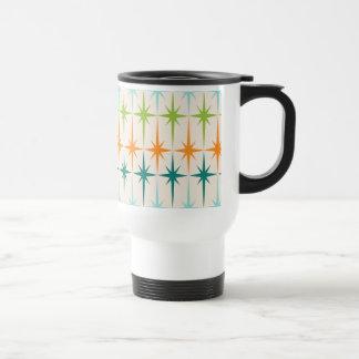 Vintage Geometric Starbursts Travel Mug